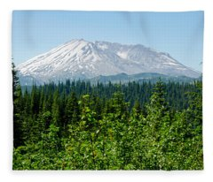 Mt. St. Hellens Fleece Blanket