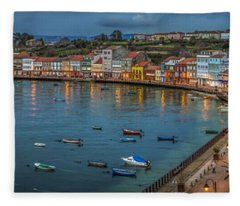 Mugardos Panorama Galicia Spain Fleece Blanket