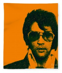 Mugshot Elvis Presley Square Fleece Blanket