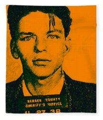 Mugshot Frank Sinatra V1 Fleece Blanket