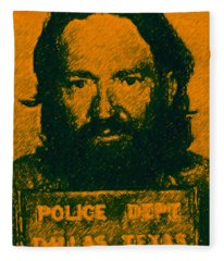 Mugshot Willie Nelson P0 Fleece Blanket