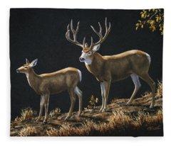 Mule Deer Ridge Fleece Blanket