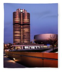 munich - BMW office - vintage Fleece Blanket