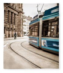 Munich City Traffic Fleece Blanket
