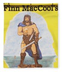 Mural Of Legendary Irish Giant Fionn Fleece Blanket