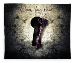Music Gives Back - Open Your Heart Fleece Blanket
