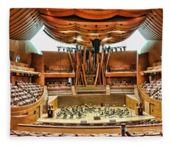 Interior Music Hall Disney Gehry Architecture  Fleece Blanket