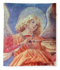 Musical Angel With Violin Fleece Blanket