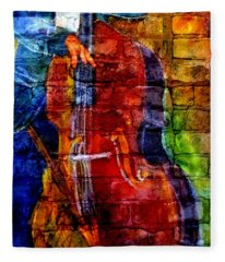 Musician Bass And Brick Fleece Blanket