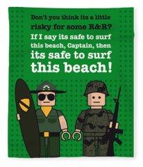 My Apocalypse Now Lego Dialogue Poster Fleece Blanket