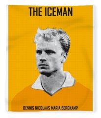 My Bergkamp Soccer Legend Poster Fleece Blanket