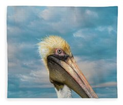 My Better Side - Florida Brown Pelican Fleece Blanket