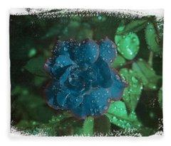 My Blue Rose Fleece Blanket