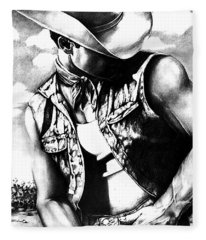 My Cowboy Man Fleece Blanket