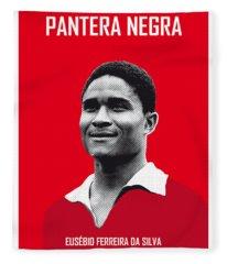 My Eusebio Soccer Legend Poster Fleece Blanket