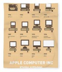 My Evolution Apple Mac Minimal Poster Fleece Blanket