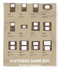 My Evolution Nintendo Game Boy Minimal Poster Fleece Blanket