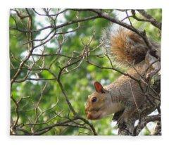 My First American Squirrel Fleece Blanket
