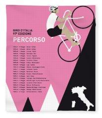 My Giro D Italia Minimal Poster 2014-percoso Fleece Blanket