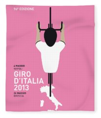 My Giro D'italia Minimal Poster Fleece Blanket
