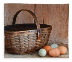 My Grandma's Egg Basket Fleece Blanket