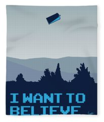 My I Want To Believe Minimal Poster- Tardis Fleece Blanket