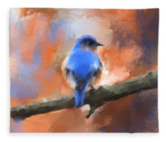 My Little Bluebird Fleece Blanket