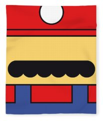 My Mariobros Fig 01 Minimal Poster Fleece Blanket