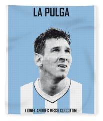 My Messi Soccer Legend Poster Fleece Blanket