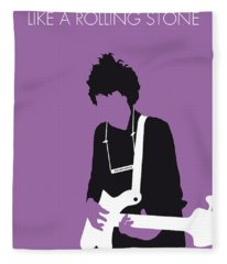 No001 My Bob Dylan Minimal Music Poster Fleece Blanket