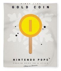 My Nintendo Ice Pop - Gold Coin Fleece Blanket