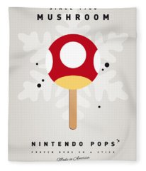 My Nintendo Ice Pop - Mushroom Fleece Blanket