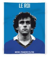 My Platini Soccer Legend Poster Fleece Blanket