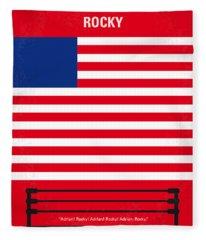 My Rocky Minimal Movie Poster Fleece Blanket