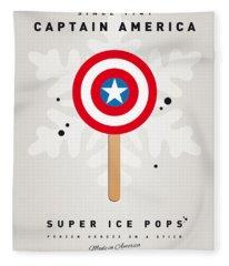 My Superhero Ice Pop - Captain America Fleece Blanket