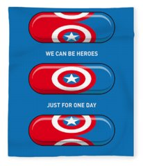 My Superhero Pills - Captain America Fleece Blanket