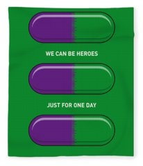 My Superhero Pills - The Hulk Fleece Blanket