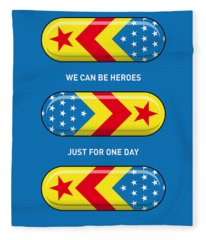 My Superhero Pills - Wonder Woman Fleece Blanket