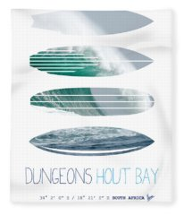 My Surfspots Poster-4-dungeons-cape-town-south-africa Fleece Blanket
