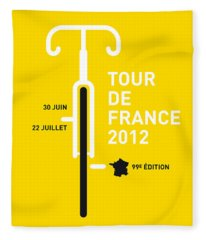 My Tour De France 2012 Minimal Poster Fleece Blanket