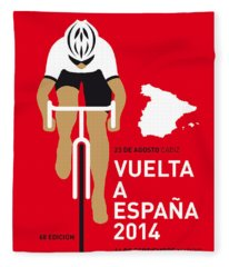 My Vuelta A Espana Minimal Poster 2014 Fleece Blanket