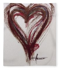 Myeloma Awareness Heart Fleece Blanket