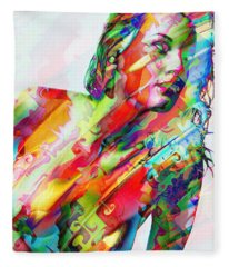 Myriad Of Colors Fleece Blanket