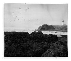 Mysterious Yaquina Head Fleece Blanket