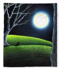 Mystery's Silence And Wonder's Patience Fleece Blanket