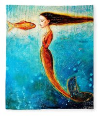 Mystic Mermaid II Fleece Blanket