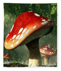Mystic Mushroom Fleece Blanket