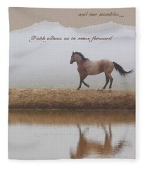 Mystical Beauty Inspirational Fleece Blanket