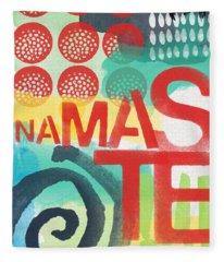 Namaste- Contemporary Abstract Art Fleece Blanket