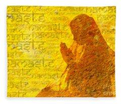 Namaste  Fleece Blanket